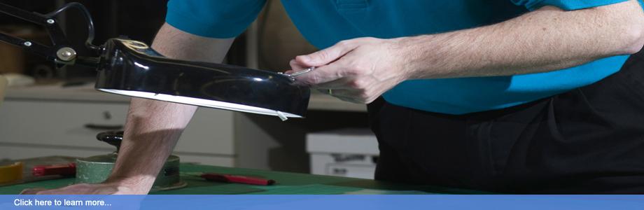 Chip Sheeran ensuring a sample has a consistent coating