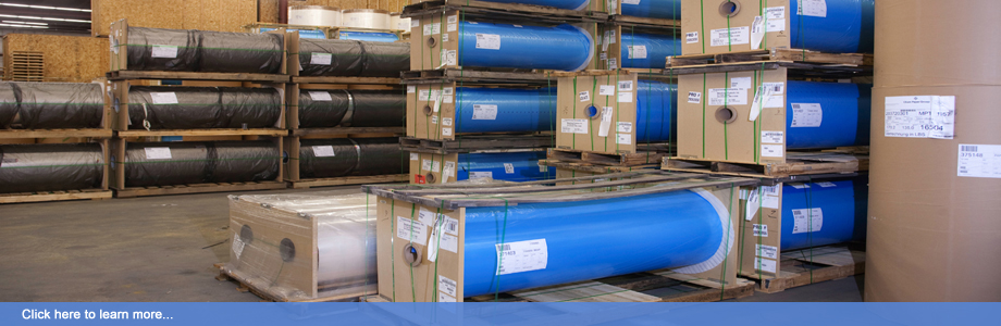 A wide range of release liner substrates are kept on-site